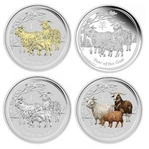 lunar-goat-silber-set-4-oz-koloriert-vergoldet