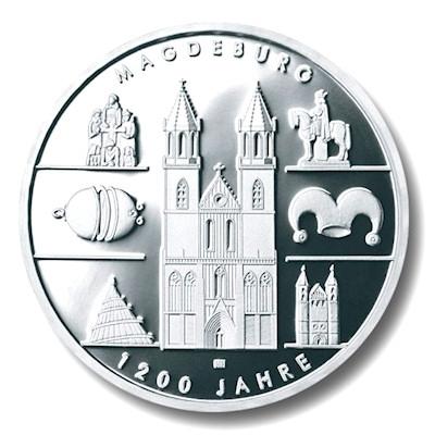 10 Euro Münze 1200 Jahre Magdeburg Emxpress Onlineausgabe