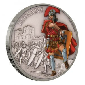 warriors-of-history-romans-1-oz-silber-koloriert