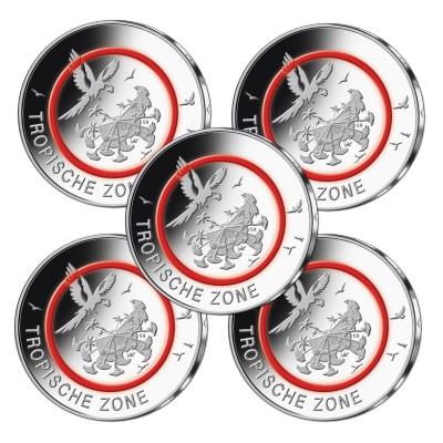5 Euro Münze Tropische Zone Emxpress Onlineausgabe