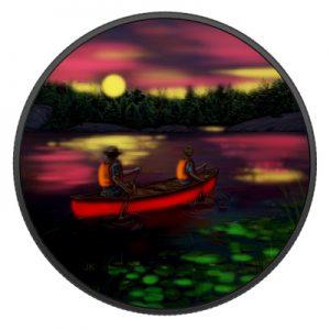 great-canadian-outdoors-sunset-canoeing-silber-koloriert-leuchteffekt-2