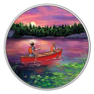 great-canadian-outdoors-sunset-canoeing-silber-koloriert-leuchteffekt