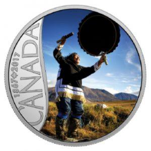 150-jahre-kanada-trommeltanz-nunavut-silber-koloriert