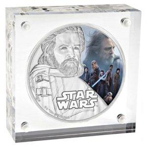star-wars-episode-viii-luke-skywalker-1-oz-silber-koloriert-rahmen