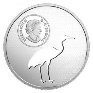 animal-cutout-schreikranich-1.7-oz-silber-wertseite