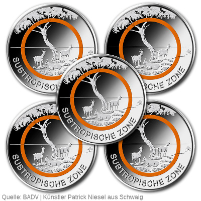 5 Euro Münze Subtropische Zone Komplettsatz Emxpress Onlineausgabe