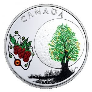 canada-thirteen-teachings-strawberry-moon-silber-koloriert