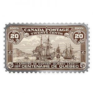 canada-briefmarke-ankunft-von-cartier-1-oz-silber-koloriert