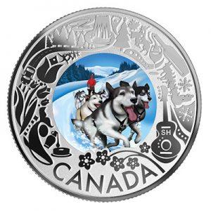 canadian-fun-and-festivities-hundeschlitten-silber-koloriert