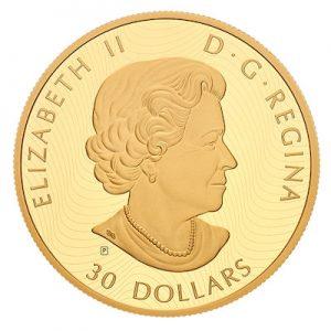 vergoldete-silbermuenze-hirsch-woelfe-2-oz-silber-wertseite