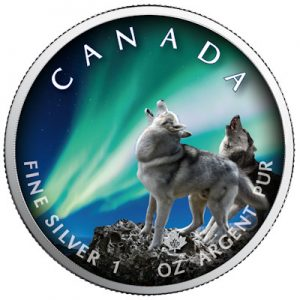 maple-leaf-polar-lights-banff-national-park-1-oz-silber-koloriert