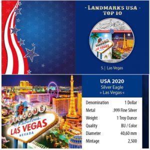 silver-eagle-landmarks-las-vegas-1-oz-silber-koloriert-verpackung