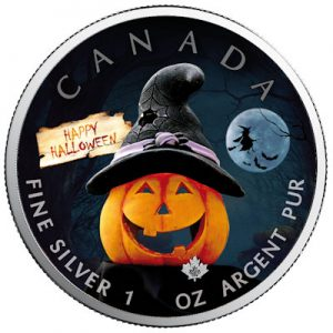 maple-leaf-halloween-2020-spooky-fun-1-oz-silber-koloriert