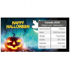 maple-leaf-halloween-2020-spooky-fun-1-oz-silber-koloriert-verpackung