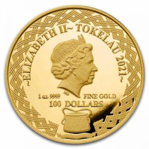 tokelau-igelfisch-1-oz-gold-wertseite