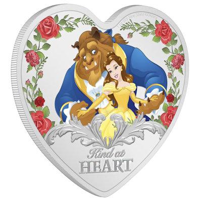 Ein Herz für Disney: Silbermünze Die Schöne und das Biest